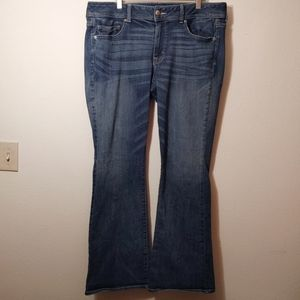 American Eagle Medium Wash Kickboot Jeans 18 Long